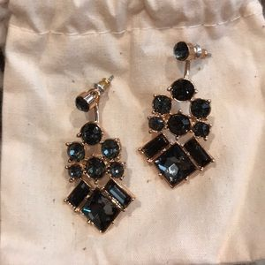 Slate statement earrings never worn